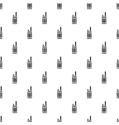 Portable handheld radio pattern simple style vector