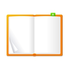 Empty open book vector