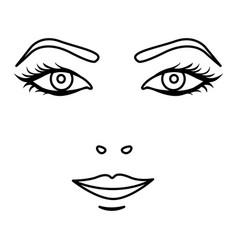 black silhouette woman face portrait icon vector image