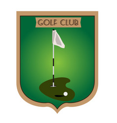 isolated golf emblem vector image