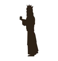Silhouette wise kings manger design vector