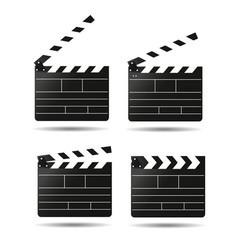 Clap movie board clapper vector