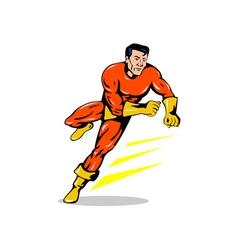 Super Hero Running Retro vector image