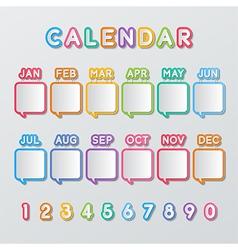 Speech bubbles calendar vector
