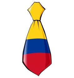Necktie in national colours of colombia vector