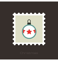 Christmas balls flat stamp vector