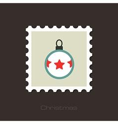Christmas balls flat stamp vector image