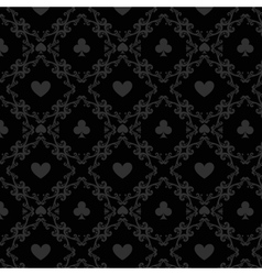 Luxury casino gambling poker background pattern vector