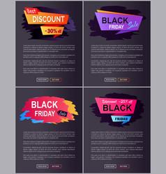 best discount -30 off set vector image