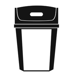 Big trashcan icon simple style vector
