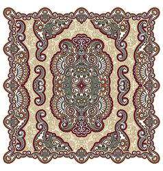 Floral ornamental seamless carpet design vector