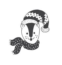 Funny gopher nursery art minimalist vector