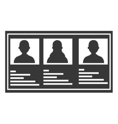 grey and white list graphic vector image