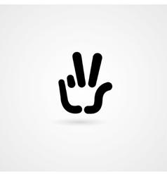 hand icon victory vector image