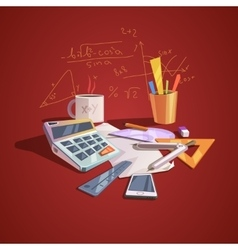 Math science concept vector image