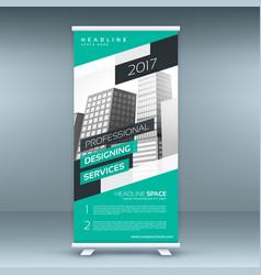 Modern standee design template banner vector