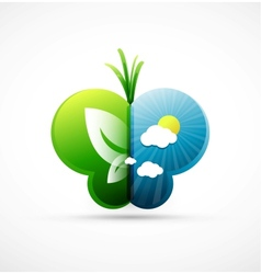 nature butterfly concept vector image