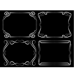 Set of framework White on black vector image vector image