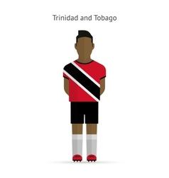 Trinidad and tobago football player soccer uniform vector