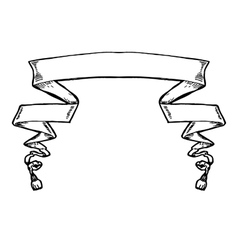 Vintage ribbon banner hand drawn vector image vector image