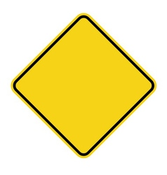 yellow sign blank vector image vector image