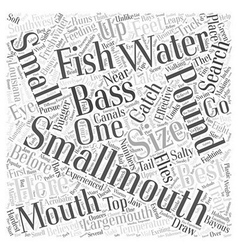 Smallmouth bass fishing word cloud concept vector