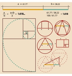 Golden ratio golden proportion vector