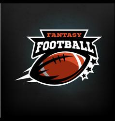 American football fantasy vector