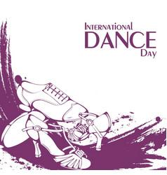 Dance day ballroom latina shoes vector