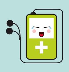 mp3 kawaii cartoon cry cute icon graphic vector image