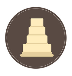 isolated cake icon vector image