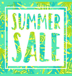 Summer sale tropical style banner vector