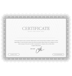 Certificate Grey pattern that is used in currency vector image