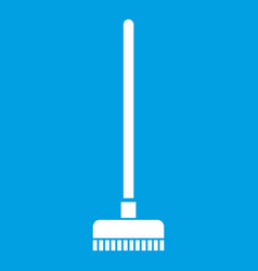 Brush for a floor icon white vector