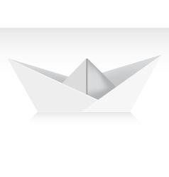 Paper boat vector