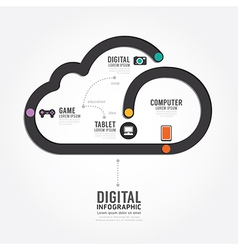Infographic technology digital line concept vector