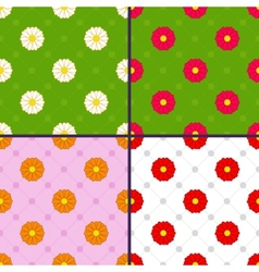 Patterns with daisies vector