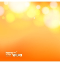 Orange abstract bokeh vector