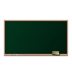 Blackboard chalk and sponge - isolated vector