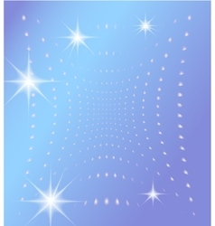 Blue background with glowing dots and stars vector