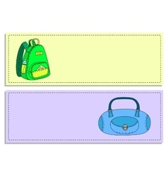 Colorful travel bags banners set vector image