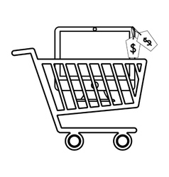 Flat of shopping design vector