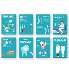 Dental office interior background vector image