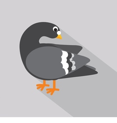 Flat design pigeon icon vector