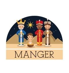 Shepherd icon merry christmas design vector