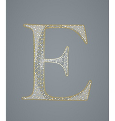Abstract golden letter E vector image