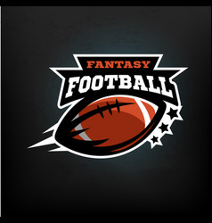 american football fantasy vector image