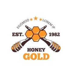 Beekeeper honey emblem logo vector