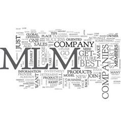 Best mlm companies tips for your success text vector