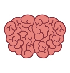 Brain logo silhouette top view vector